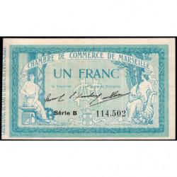 Marseille - Pirot 79-11 variété - Série B - 1 franc - 1914 - Etat : NEUF