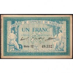 Marseille - Pirot 79-31 - Série 12 - 1 franc - 1914 - Etat : TTB+