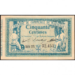 Marseille - Pirot 79-45 - 50 centimes - Série XVI - 05/11/1915 - Etat : TTB+