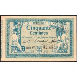 Marseille - Pirot 79-45 - Série XVI - 50 centimes - 1915 - Etat : TTB+