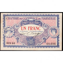 Marseille - Pirot 79-70 - Série Q-R - 1 franc - 1917 - Etat : SPL