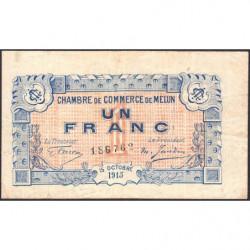 Melun - Pirot 80-3 variété - 1 franc - 15/10/1915 - Etat : TB+