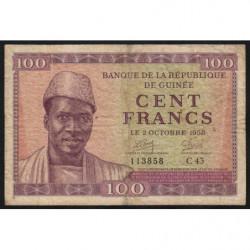 Guinée - Pick 7 - 100 francs - 1958 - Etat : TB