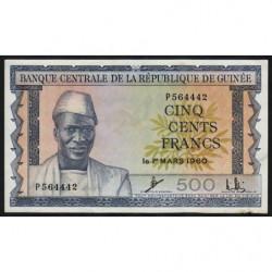 Guinée - Pick 14 - 500 francs - 1960 - Etat : SPL