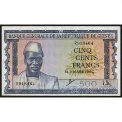 Guinée - Pick 14 - 500 francs - 1960 - Etat : SPL+