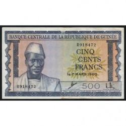 Guinée - Pick 14 - 500 francs - 1960 - Etat : TTB