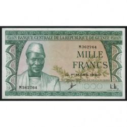 Guinée - Pick 15 - 1'000 francs - 1960 - Etat : SPL+