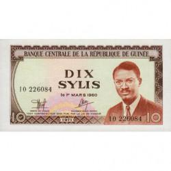 Guinée - Pick 16 - 10 sylis - 1971 - Etat : NEUF