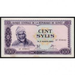 Guinée - Pick 19 - 100 sylis - 1971 - Etat : SUP+