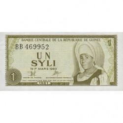 Guinée - Pick 20 - 1 syli - 1981 - Etat : NEUF