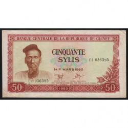 Guinée - Pick 25 - 50 sylis - 1980 - Etat : TTB