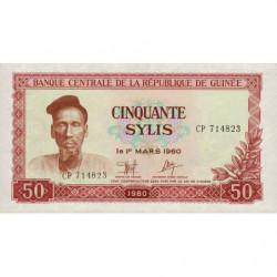 Guinée - Pick 25 - 50 sylis - 1981 - Etat : NEUF