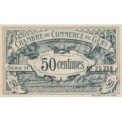 Auch (Gers) - Pirot 15-5 - 50 centimes - Série H - 18/11/1914 - Etat : SPL