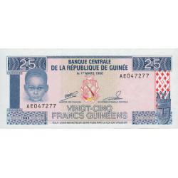 Guinée - Pick 28 - 25 francs guinéens - 1985 - Etat : NEUF