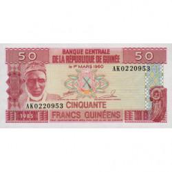 Guinée - Pick 29 - 50 francs guinéens - 1985 - Etat : NEUF