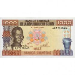 Guinée - Pick 32_1 - 1'000 francs guinéens - 1985 - Etat : NEUF