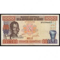 Guinée - Pick 32_2 - 1'000 francs guinéens - 1985 - Etat : TTB-