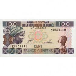 Guinée - Pick 35a_2 - 100 francs guinéens - 1998 - Etat : NEUF
