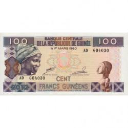 Guinée - Pick 35b - 100 francs guinéens - 2012 - Etat : NEUF