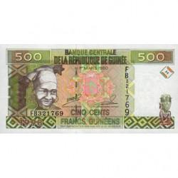 Guinée - Pick 36_2 - 500 francs guinéens - 1998 - Etat : NEUF