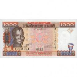 Guinée - Pick 37 - 1'000 francs guinéens - 1998 - Etat : NEUF