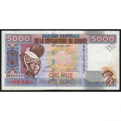 Guinée - Pick 38 - 5'000 francs guinéens - 1998 - Etat : TB+