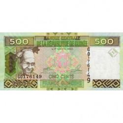 Guinée - Pick 39a - 500 francs guinéens - 2006 - Etat : NEUF