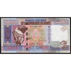Guinée - Pick 41a - 5'000 francs guinéens - 2006 - Etat : TTB+