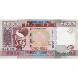 Guinée - Pick 41b - 5'000 francs guinéens - 2012 - Etat : NEUF