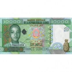 Guinée - Pick 42b - 10'000 francs guinéens - 2008 - Etat : NEUF