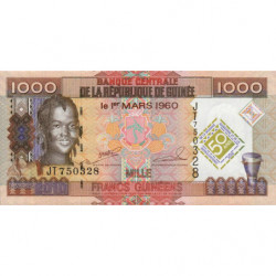 Guinée - Pick 43 - 1'000 francs guinéens - 2010 - Etat : NEUF
