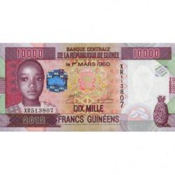 Guinée - Pick 46 - 10'000 francs guinéens - 2012 - Etat : NEUF