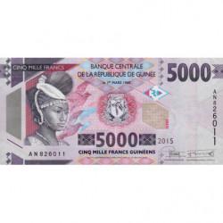 Guinée - Pick 49 - 5'000 francs guinéens - 2015 - Etat : NEUF