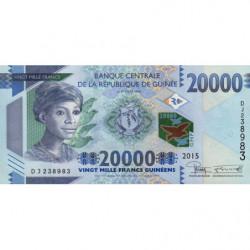 Guinée - Pick 50 - 20'000 francs guinéens - 2015 - Etat : NEUF