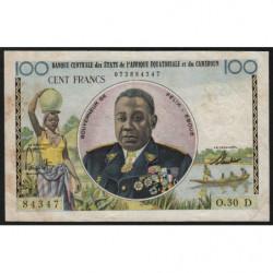 Gabon - Afrique Equatoriale - Pick 1d - 100 francs - 1961 - Etat : TTB
