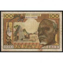 Gabon - Afrique Equatoriale - Pick 3d - 100 francs - 1963 - Etat : TB