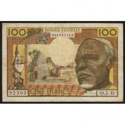 Gabon - Afrique Equatoriale - Pick 3d - 100 francs - 1963 - Etat : TB+