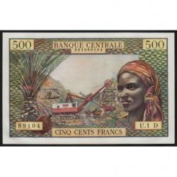 Gabon - Afrique Equatoriale - Pick 4d - 500 francs - 1963 - Etat : pr.NEUF
