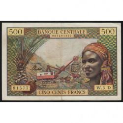 Gabon - Afrique Equatoriale - Pick 4d - 500 francs - 1963 - Etat : TTB+