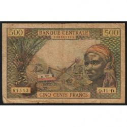 Gabon - Afrique Equatoriale - Pick 4h - 500 francs - 1963 - Etat : TB-