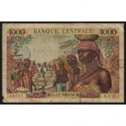 Gabon - Afrique Equatoriale - Pick 5d - 1'000 francs - 1963 - Etat : B+