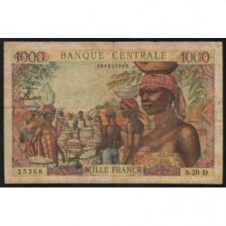 Gabon - Afrique Equatoriale - Pick 5h - 1'000 francs - 1963 - Etat : TB+