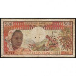 Gabon - Pick 2a - 500 francs - 1974 - Etat : TB-