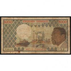 Gabon - Pick 3b - 1'000 francs - 1974 - Etat : TB-