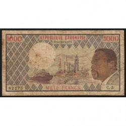 Gabon - Pick 3c - 1'000 francs - 1978 - Etat : TB-
