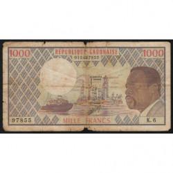 Gabon - Pick 3c - 1'000 francs - 1978 - Etat : B