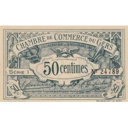 Auch (Gers) - Pirot 15-5 - 50 centimes - Série I - 18/11/1914 - Etat : SUP
