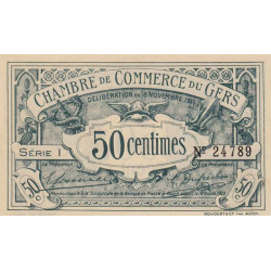 Auch (Gers) - Pirot 15-5 - Série I - 50 centimes - 1914 - Etat : SUP