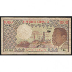 Gabon - Pick 3d_2 - 1'000 francs - 1983 - Etat : TB-