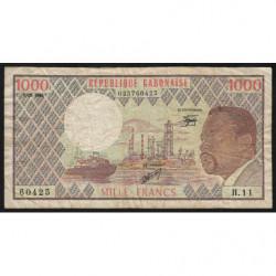 Gabon - Pick 3d_4 - 1'000 francs - 1984 - Etat : TB-